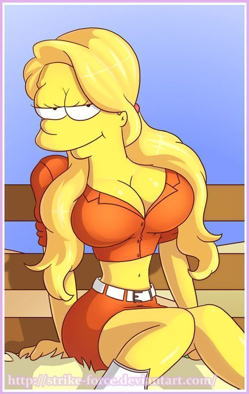 Picture- Big boobs Simpsons toon