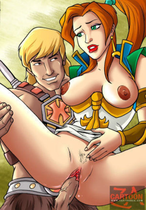 Picture- He-Man has a cock that lives up to the legend of his name and he's using it inside a hot slut